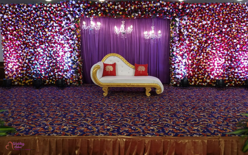 Outdoor Christian Wedding Stage Decoration